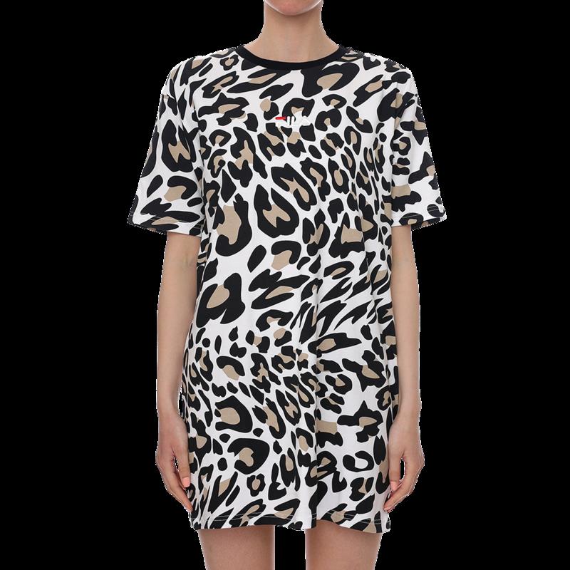 Ženska haljina Fila Elle AOP tee dress